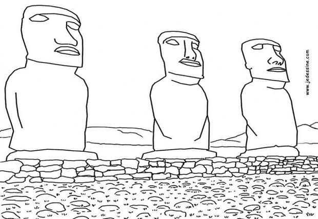 Printable Countries Coloring Pages Moai Of Easter Island Coloring Pages Easter Island Statues Easter Island