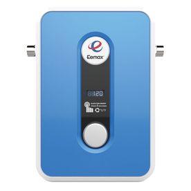 Shop Eemax 240 Volt 13 Kilo Watt 2 4 Gpm Tankless Electric Water Heater At Lowes Com Electric Water Heater Water Heater Tankless Water Heater