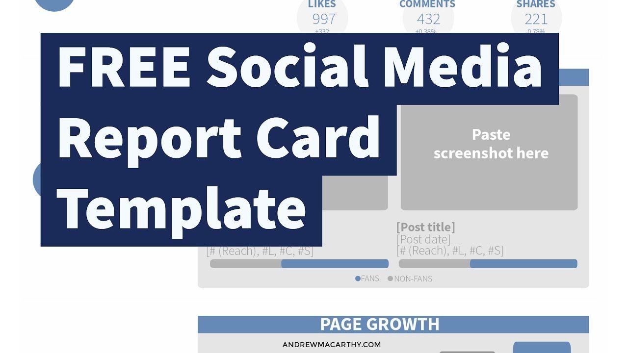 The Astounding Free Social Media Report Card Template Photoshop Psd In Free Social Media R Social Media Report Free Social Media Templates Free Social Media