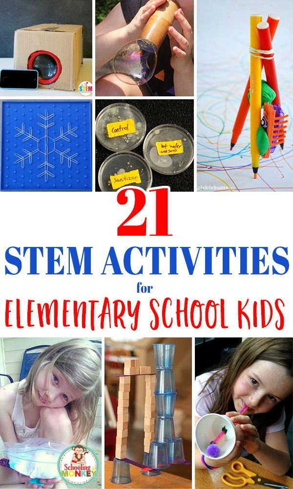 21 OF THE BEST STEM ACTIVITIES FOR ELEMENTARY SCHOOL ...