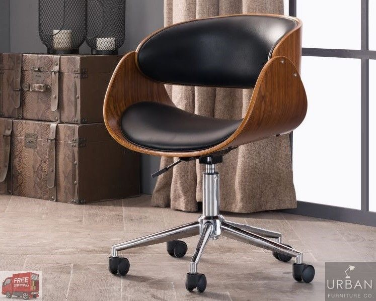 Retro Office Desk Chair Adjustable Seat Vintage Guest Swivel Mid Century Modern Corvus Midcenturymodern Desk Chair Chair Most Comfortable Office Chair