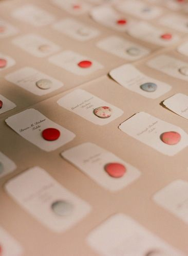 Love this seating card idea! buttons - cute! | Wedding Ideas ...