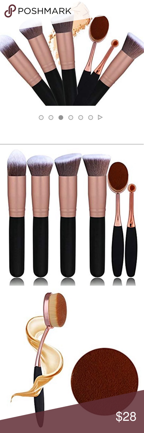 Brand new makeup brushes NWT Oval makeup brush set