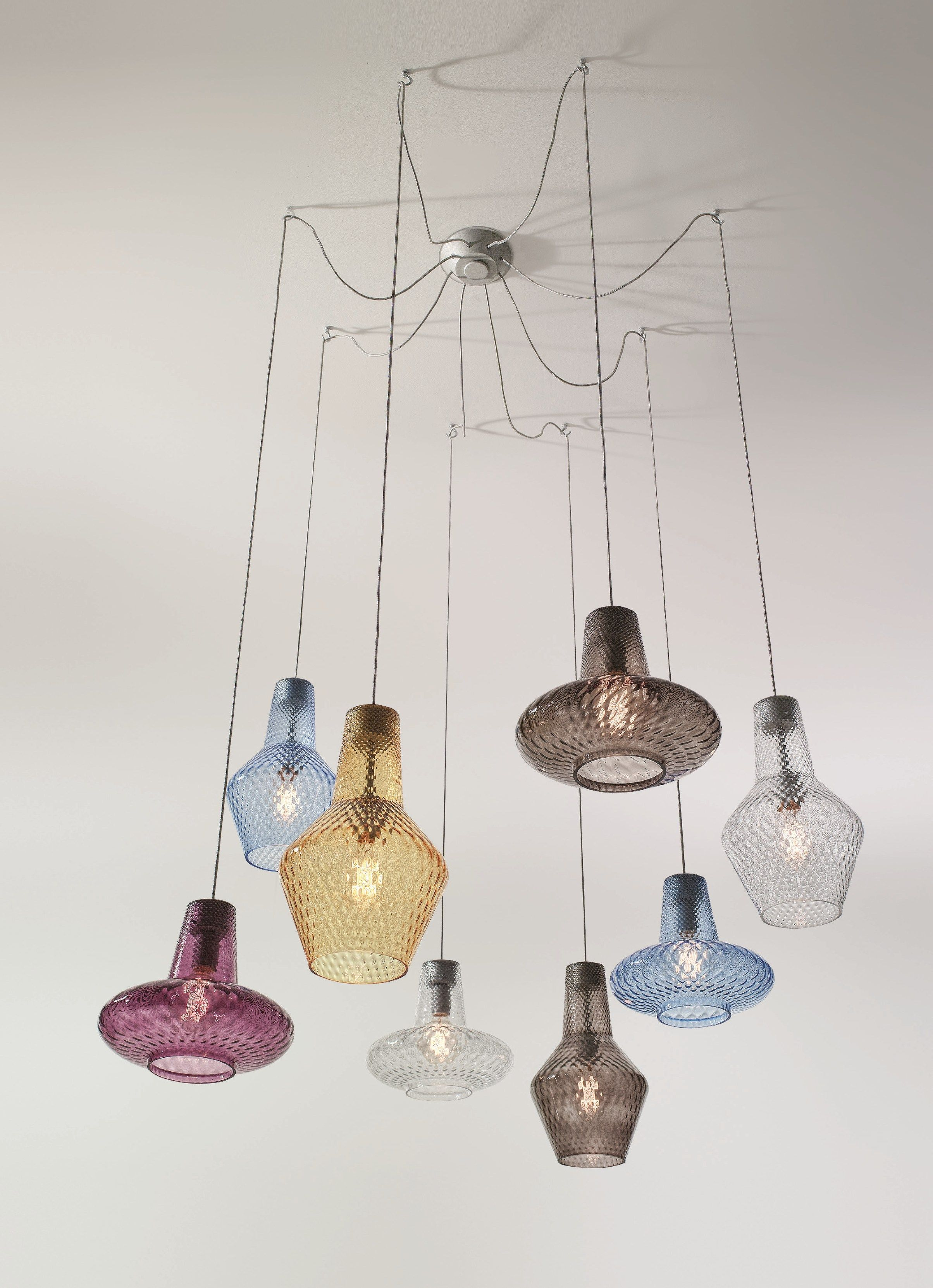 Blown Glass Pendant Lamp Romeo E Giulietta Demajolight Illuminazione A Sospensione Lampade E Idee Per L Illuminazione