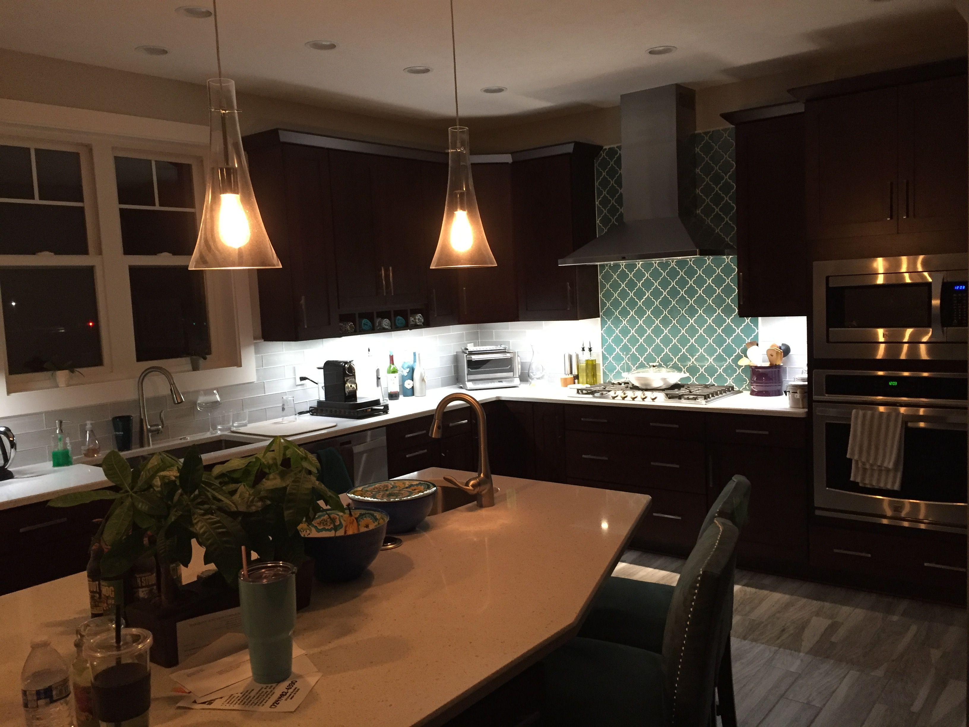 Our Kitchen With Under Cabinet Lighting By Inspiredled Great Company To Deal With Kitchen Led Lighting Under Cabinet Lighting Kitchen