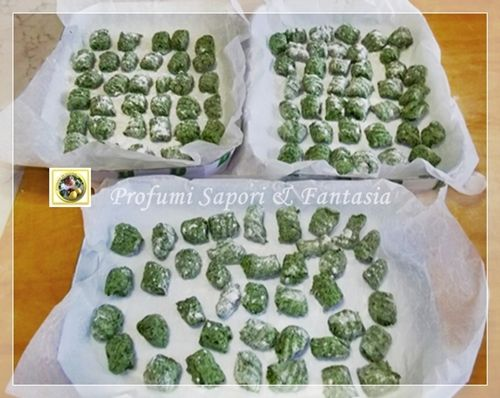 Gnocchi with spinach and ricotta