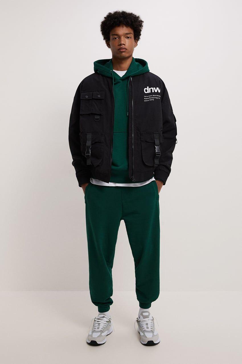 Utility Bomber Jacket Zara United States In 2021 Hoodies Men Style Urban Clothing Men Off White Hoodie Men [ 1275 x 850 Pixel ]