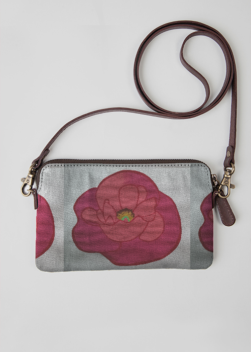 VIDA Statement Clutch - Beautiful Red Rose by VIDA