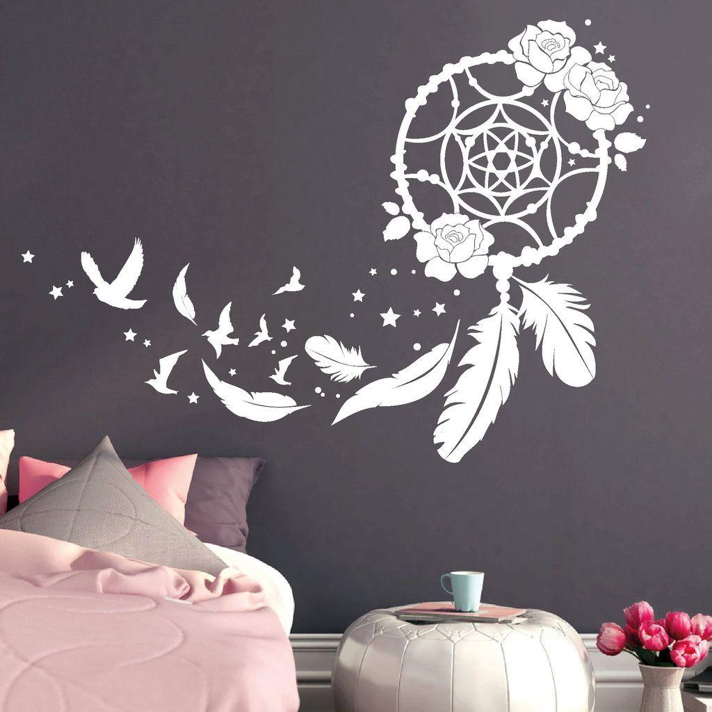 traumf nger mit rosen v geln und federn in 2019. Black Bedroom Furniture Sets. Home Design Ideas