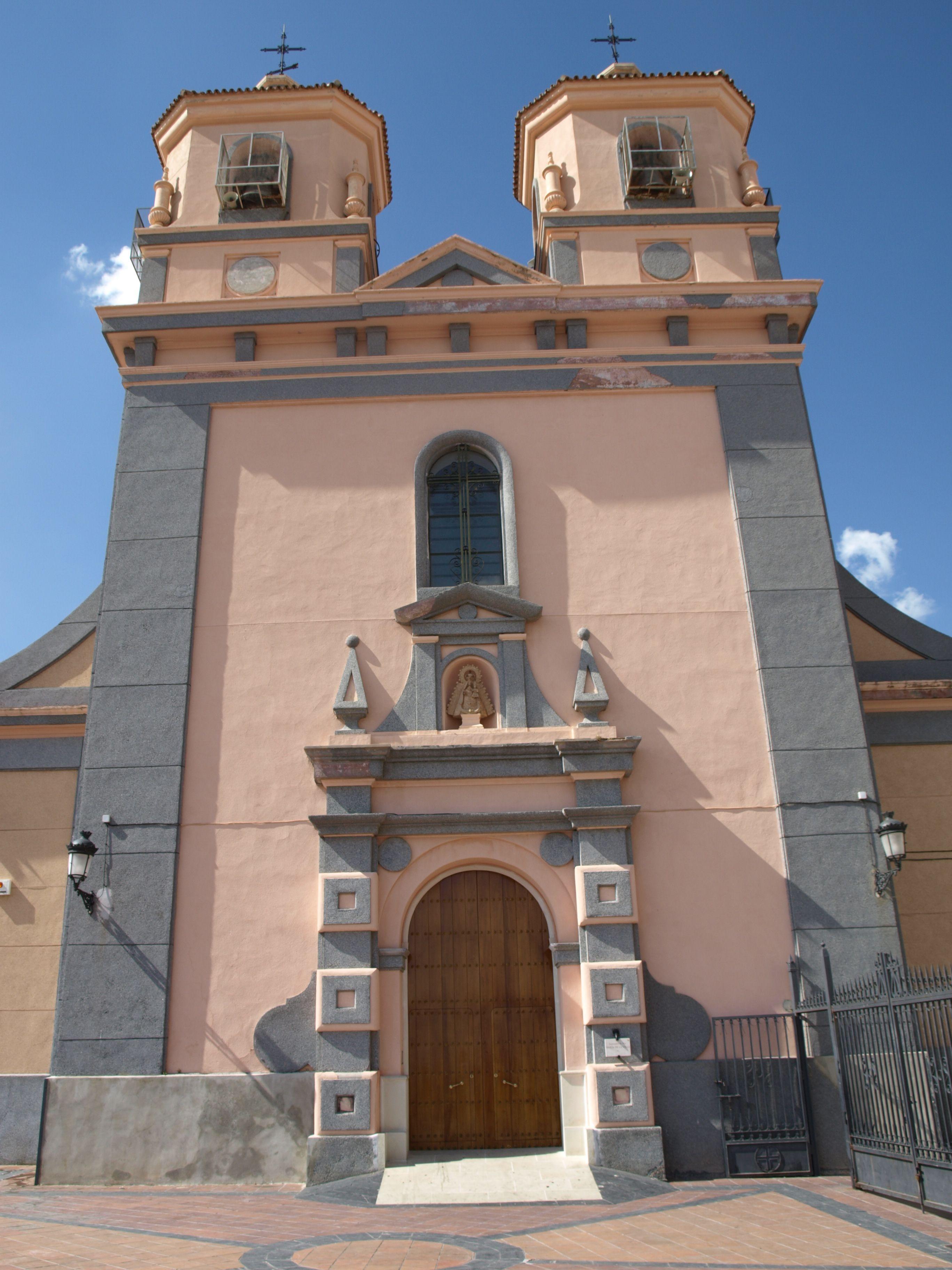 fachada principal del Santuario de la Virgen de la Villa