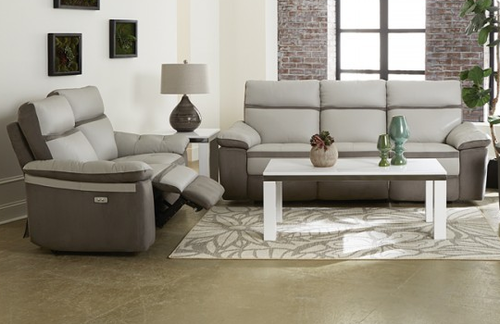 2 PC Homelegance Otto Collection Genuine Top Grain Leather Power Reclining Sofa & Loveseat Set 8319PW