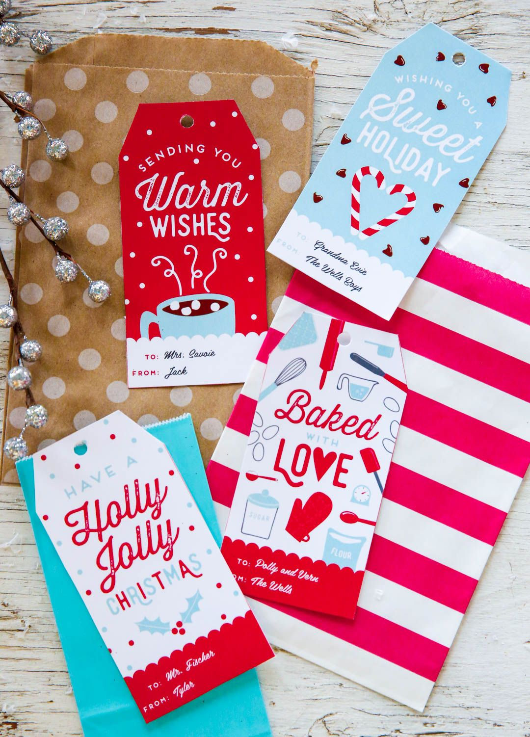 Free customizable holiday gift tags holiday gift tags holidays free personalized holiday gift tags this printable template is perfect for teacher and kids gift negle Gallery