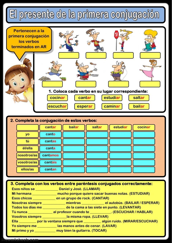 El Presente De Indicativo Interactive And Downloadable Worksheet You Can Do The Exercis Verbos En Espanol Ejercicios Para Aprender Español Lenguas Extranjeras