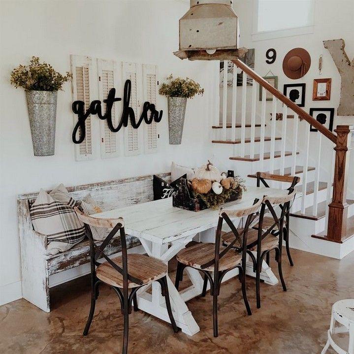 12 Rustic Dining Room Ideas: 30+ Best Modern Farmhouse Living Room Curtains Decor Ideas