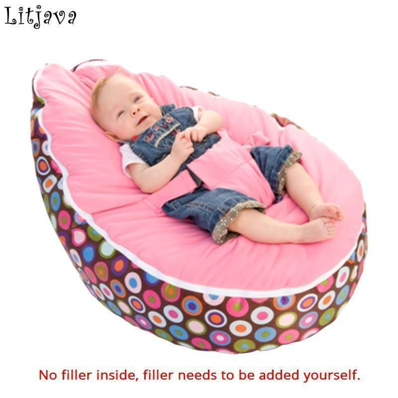 Newborn Baby Todler Bean Bag Kid Portable Nursery Seat Sofa Bed Without Filling