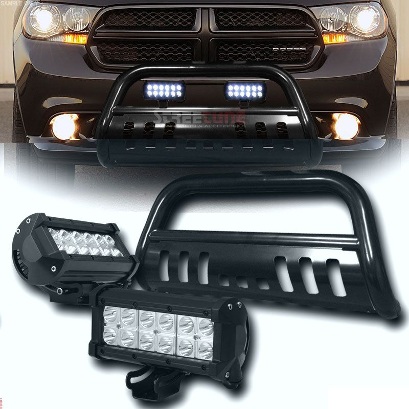 2011 2014 Dodge Durango Black Bull Bar 36w Cree Led Fog Lights Dodge Ram Dodge Dodge Ram 2500