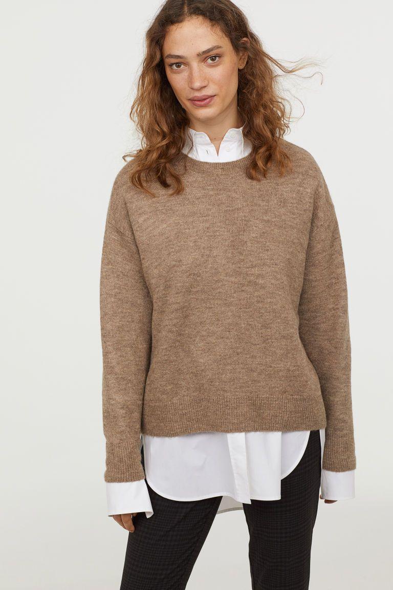 Knit Sweater   Beige sweater, Sweaters, Sweater shop