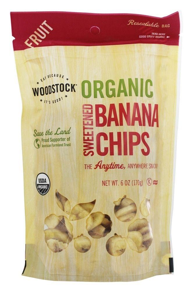 Organic Sweetened Banana Chips – 6 oz.Woodstock Farms