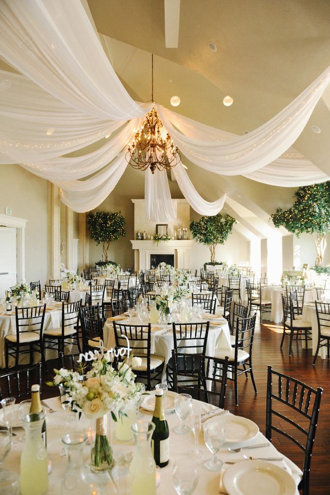 Wedding reception at Sleepy Ridge Golf Course - Sunset Room. Rebekah Westover Photography: ashley + tj. utah wedding photographer.