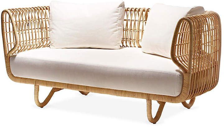 Nest Sofa White Sunbrella Cane Line Furniture Design Indoor Furniture Rattan Furniture