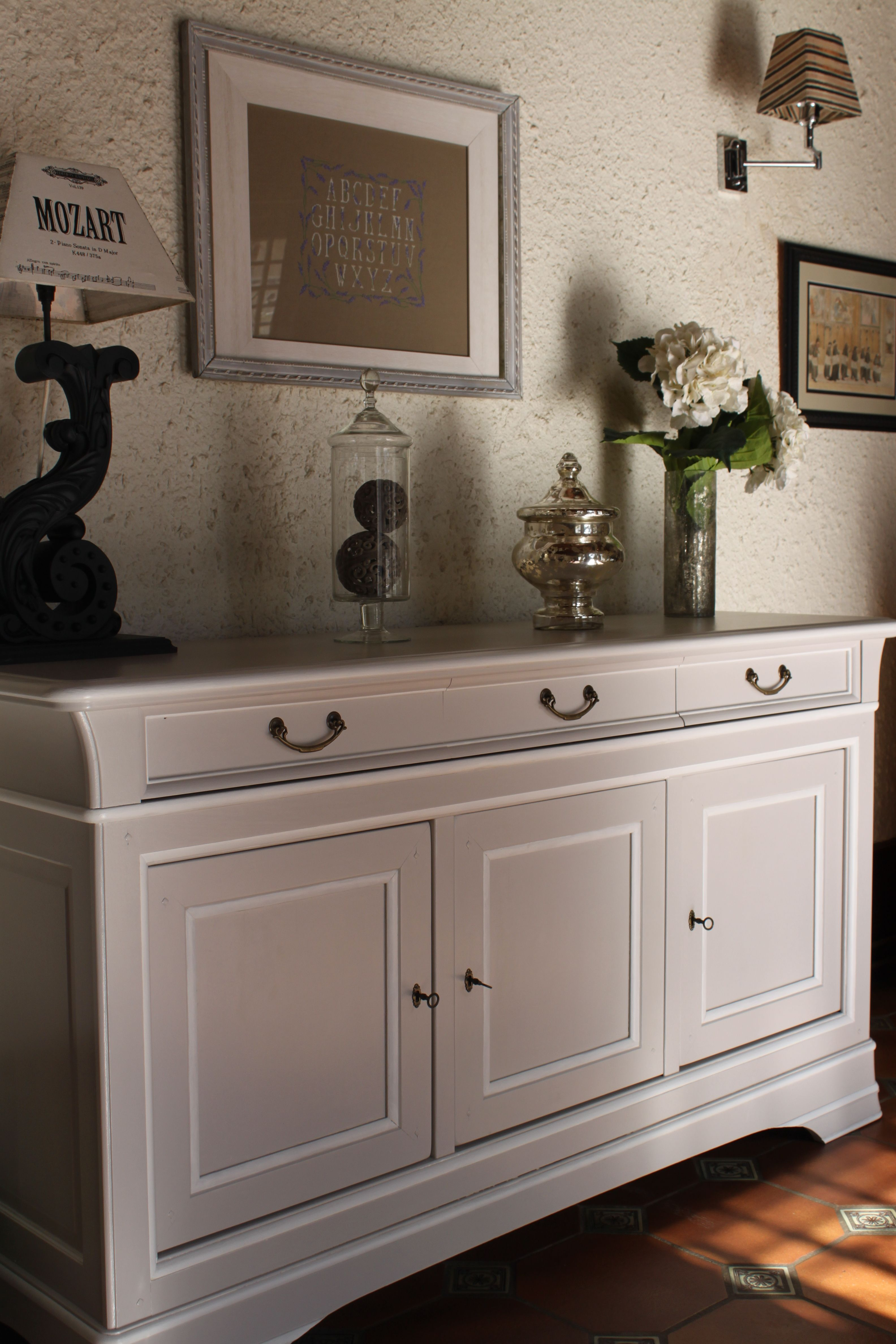 nell co buffet louis philippe en merisier patin galet nell and co patines pinterest. Black Bedroom Furniture Sets. Home Design Ideas