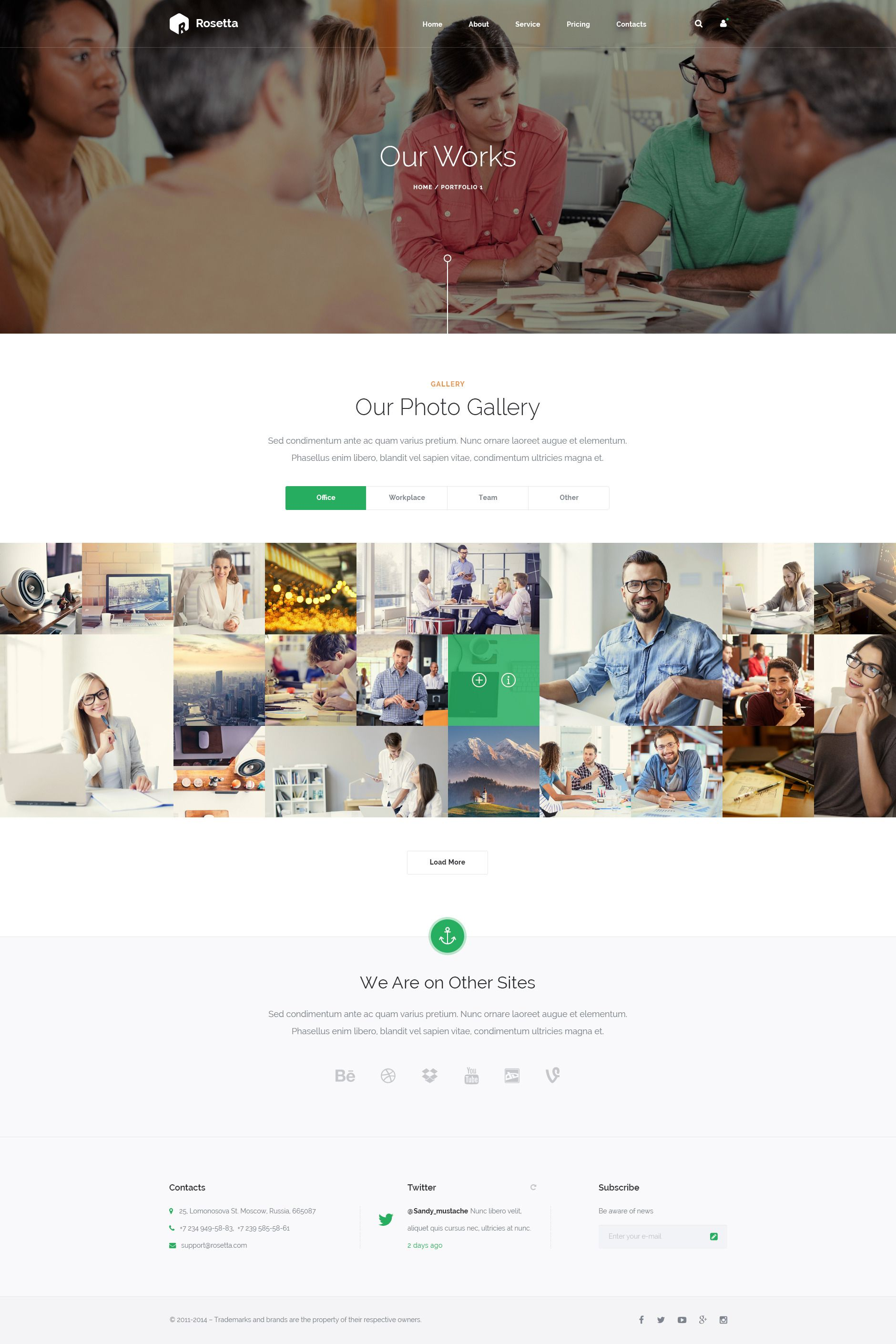 Rosetta Multipurpose HTML Template (With images) Psd