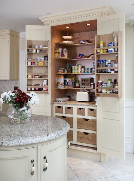 Larder Storage With Curved Shelves O Connor Kitchens