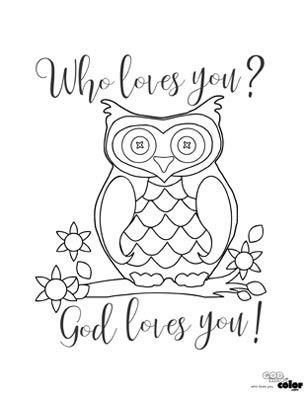 """Free Printable """"Who Loves You? God loves you!"""" www ..."""