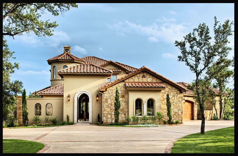 Mediterranean tuscan style home house mediterranean for Tuscan exterior design