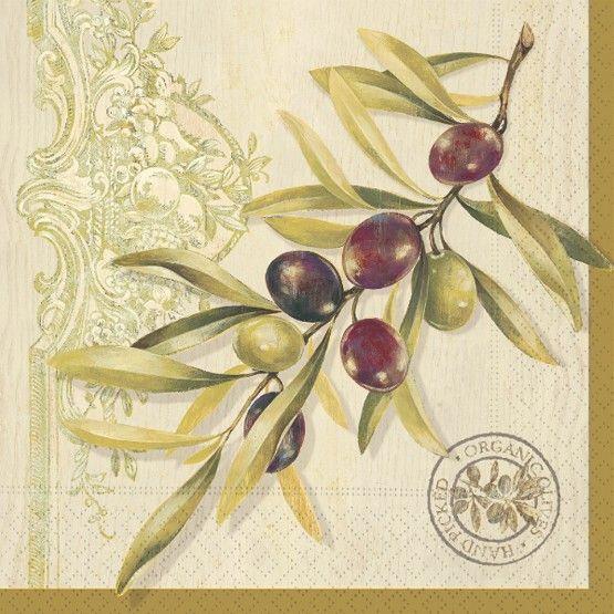 Olive Branch Lunch Napkins