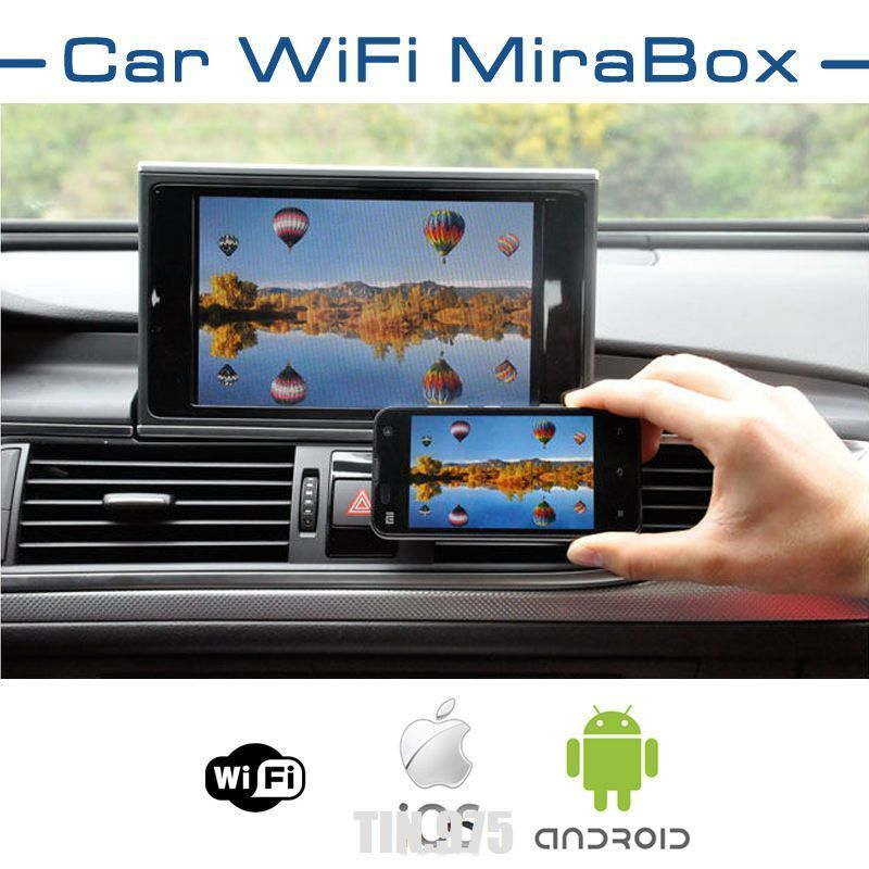 Car WIFI Mirror Link Box For Android iOS Navigation, Audio
