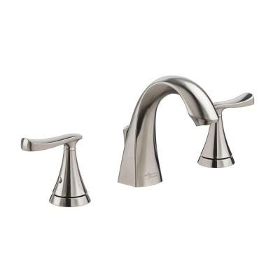 American Standard Chatfield 8 In Widespread 2 Handle Bathroom Faucet In Brushed Nickel 7413801 295 The Home Depot Bathroom Faucets Widespread Bathroom Faucet Faucet