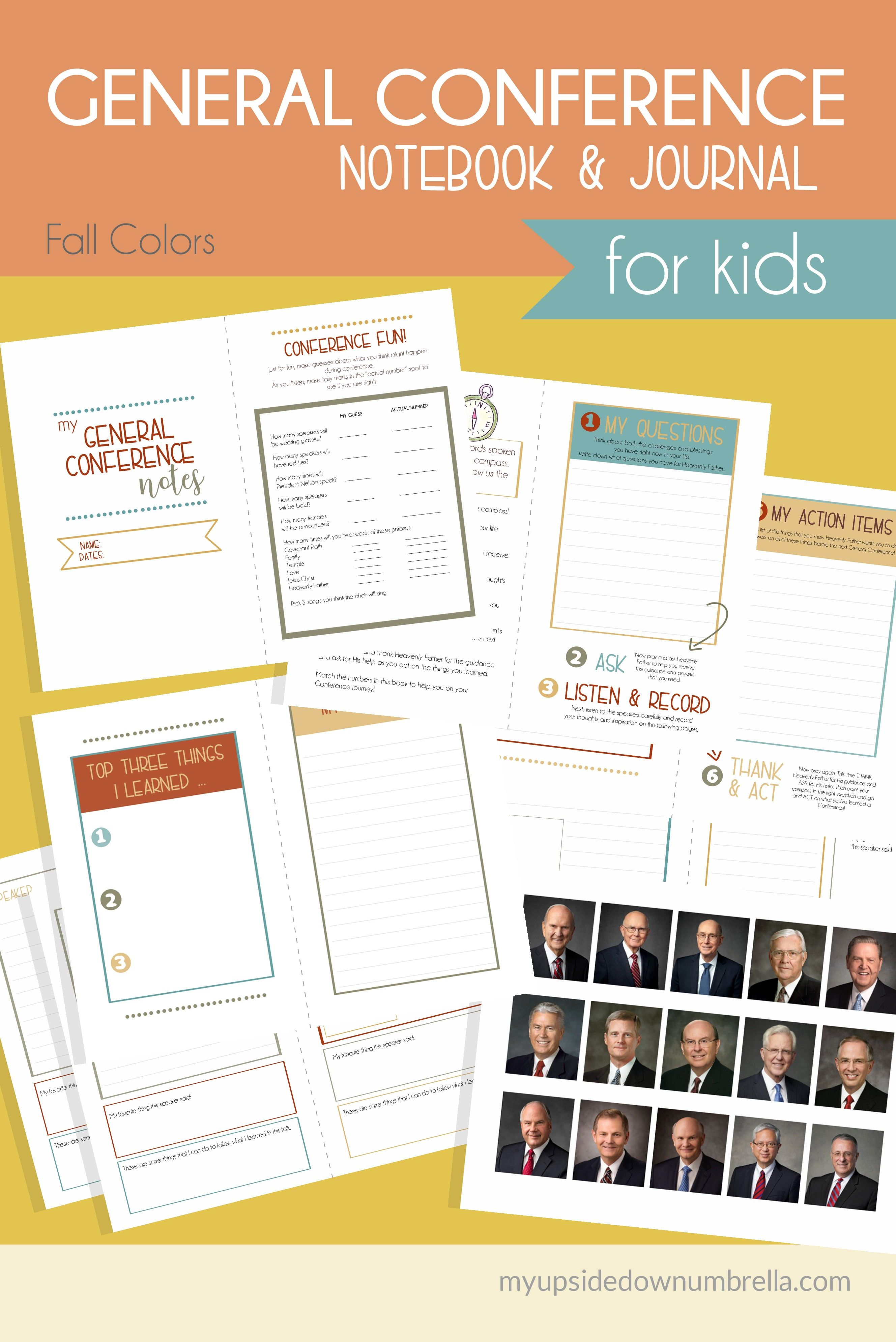 general conference journal for kids  april