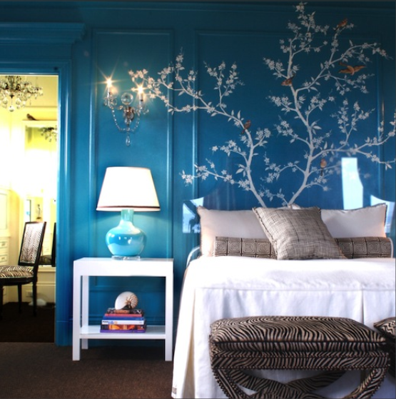 bedroom •• wall mural with images  teal bedroom decor