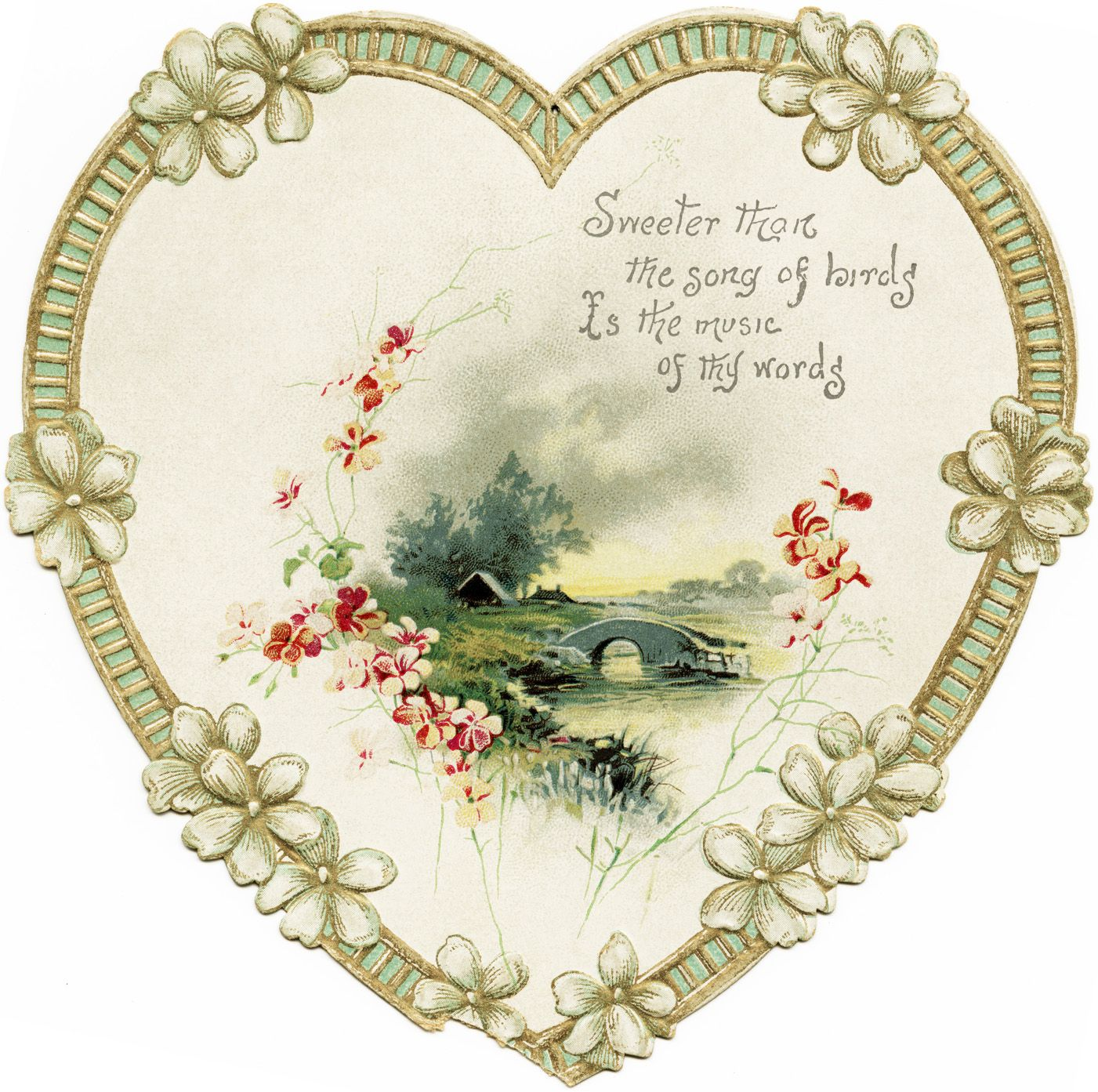 Old Design Shop ~ free digital image: heart shaped Victorian card