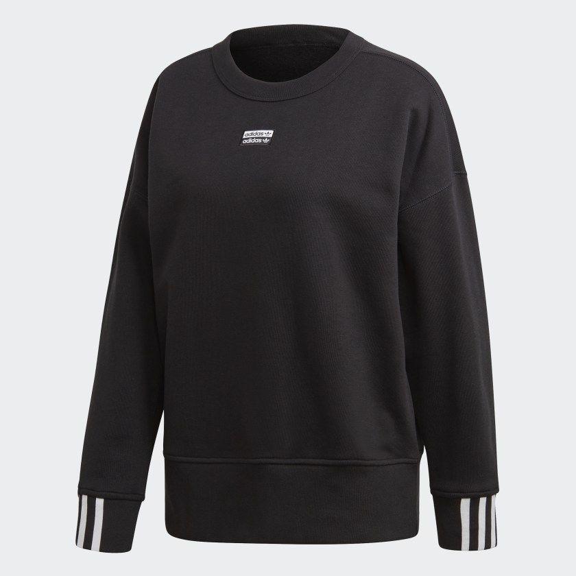 Sweatshirt Black ED5845   Adidas sweatshirt, Sweatshirts ...
