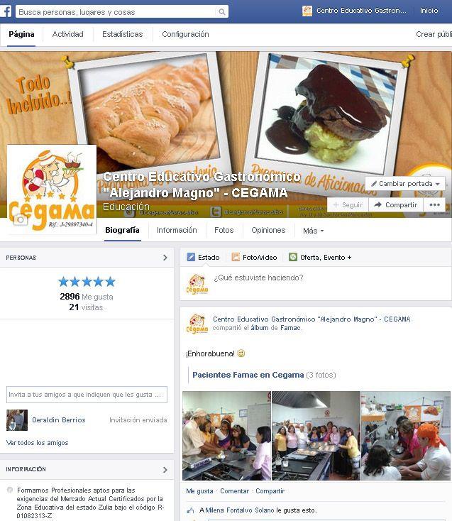 CEGAMA es una academia de cocina forma profesionales aptos para las exigencias del Mercado Actual Certificados por la Zona Educativa del estado Zulia bajo el código R-01082313-Z  https://www.facebook.com/cegamafb?ref=hl #SocialMedia #Cocina