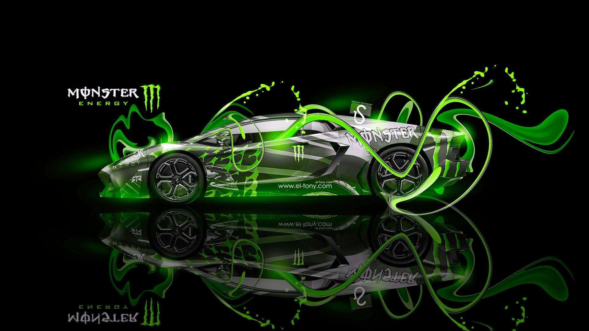 monster energy lamborghini aventador fantasy plastic car