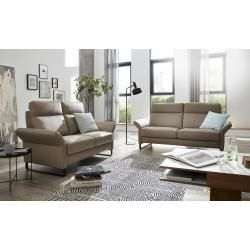 Photo of Living quality leather sofa Anja – cream – 160 cm – 100 cm – 90 cm – upholstered furniture> sofas> 3-seater living quality