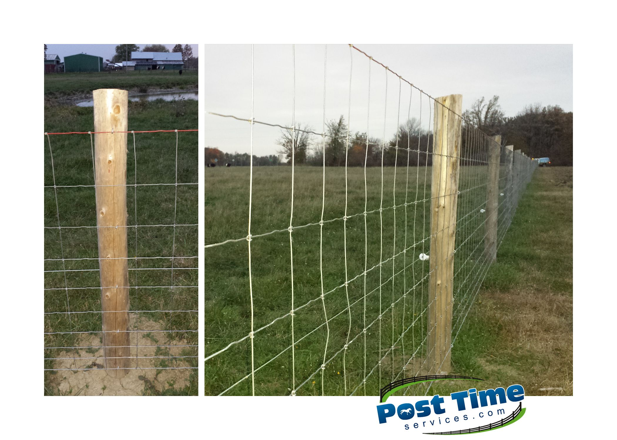 Farm fence paige wire protected with one starnd of electric to keep ...