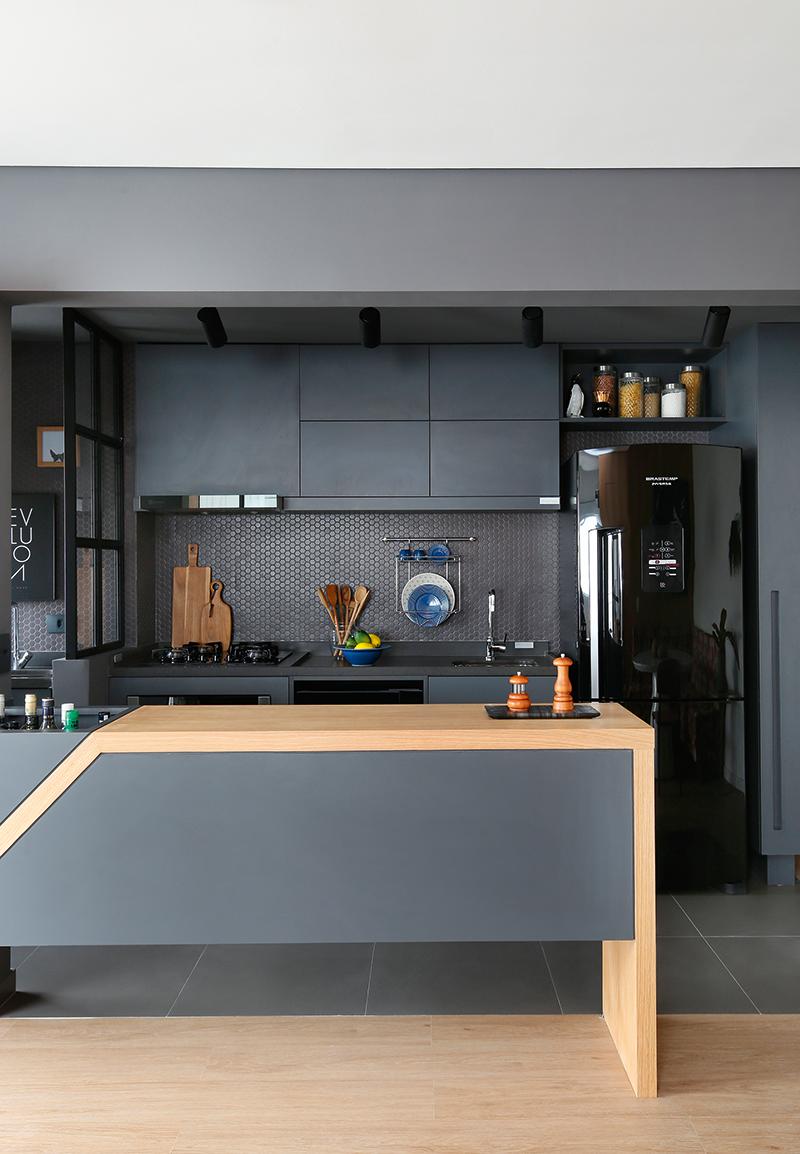 Se N O H Divis Ria Para Delimitar A Cozinha O Piso De  ~ Bancada Divisoria Sala Cozinha