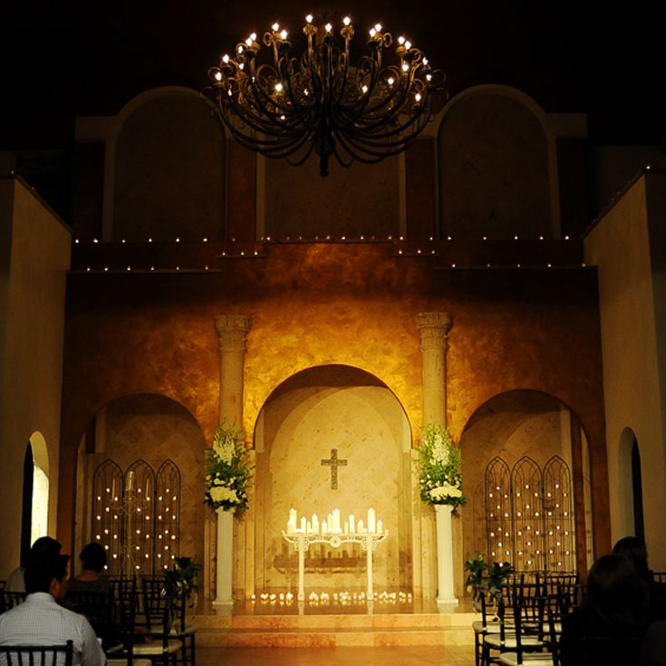 The Campanile Chapel is so romantic; especially when lit ...