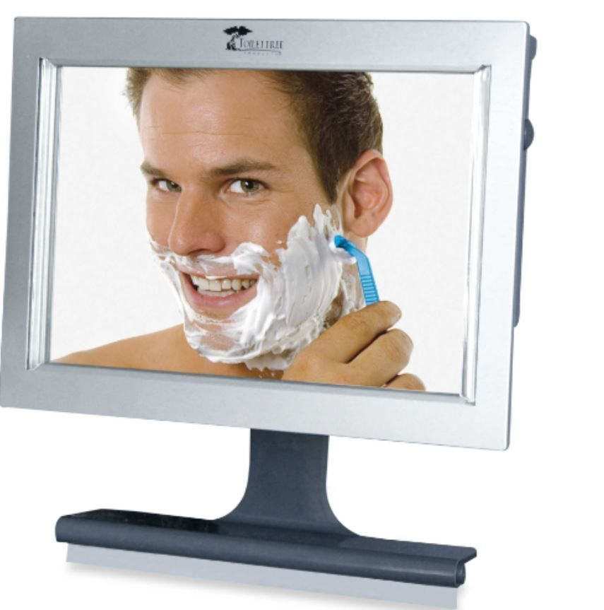 LED Fogless Lighted Shower Mirror, Bathroom, With Squeegee, Toilettree  Products #Toilettree