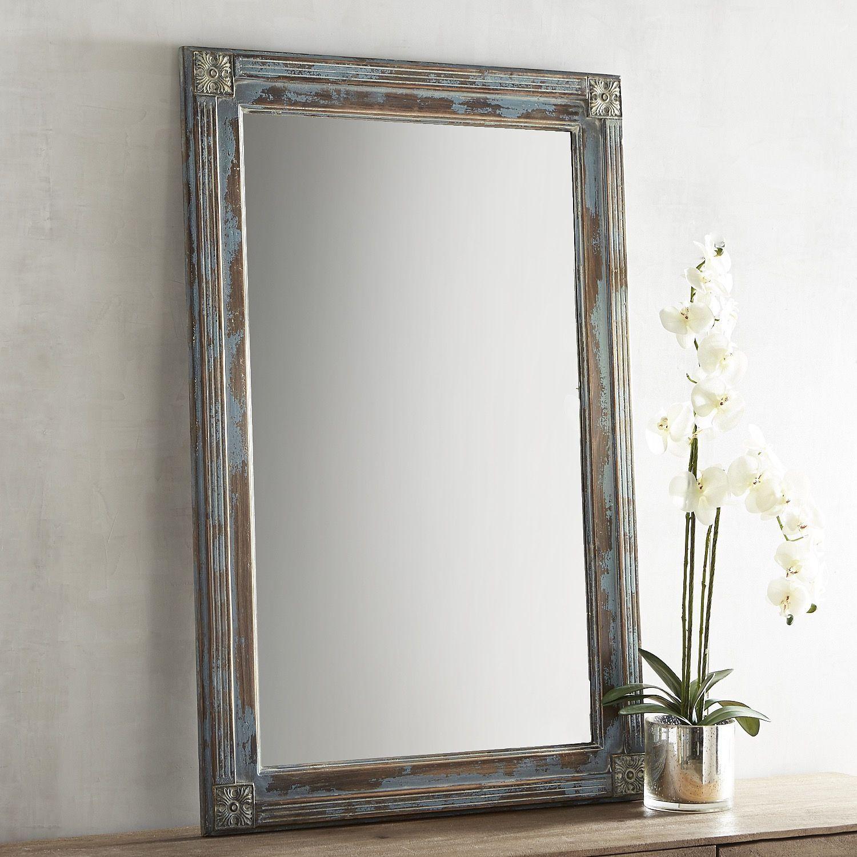 Misty Blue Wash 32x48 Mirror Decor Mirrors Mirror Decor Blue