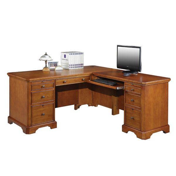 Winners Only Inc L Shaped Executive Desk With Drawers Staples
