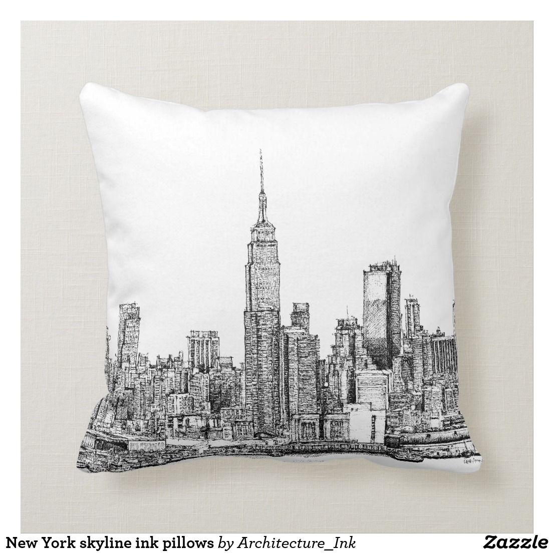 New York Pillow New York Skyline