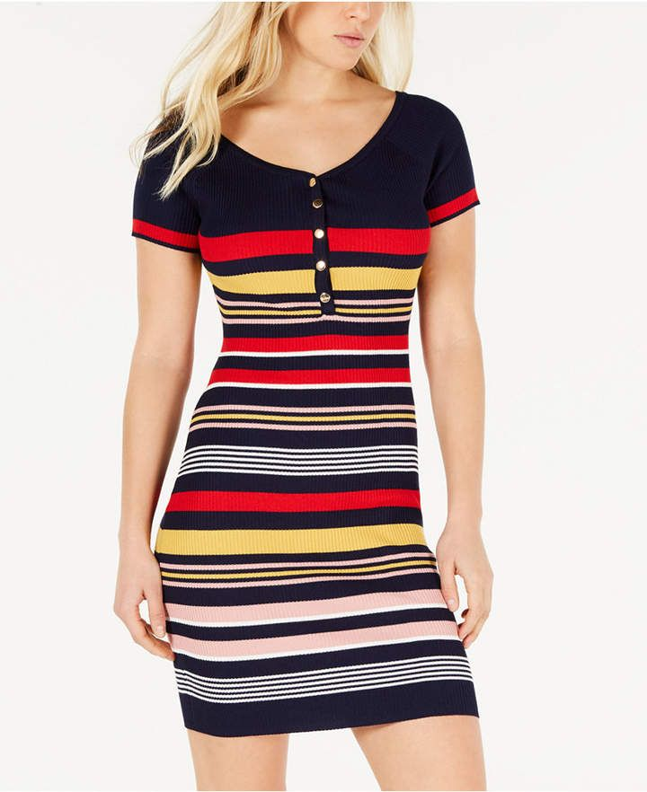 0daa53f5b5 Juniors' Striped Bodycon Dress in 2019 | Products | Dresses, Bodycon ...
