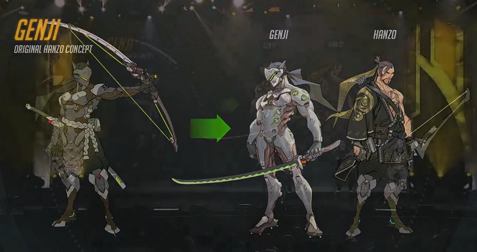 Overwatch Character Design Analysis : Mei genji d va early concepts concept album overwatch