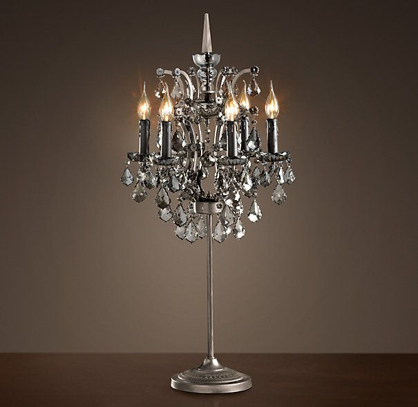 Beautiful 19th C. Rococo Iron U0026 Crystal Table Lamp Smoke   This Is Definitely Going On