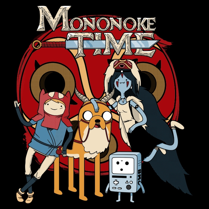 Mononoke Time On Day Of The Shirt Adventure Time Crossover Adventure Time Princesses Cartoon Crossovers